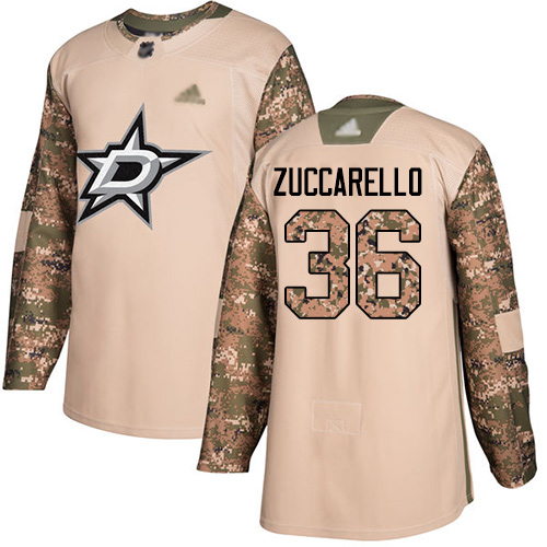 Stars #36 Mats Zuccarello Camo Authentic 2017 Veterans Day Youth Stitched Hockey Jersey