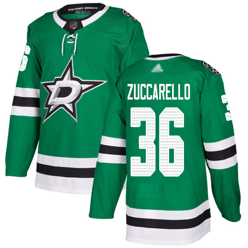 Stars #36 Mats Zuccarello Green Home Authentic Youth Stitched Hockey Jersey