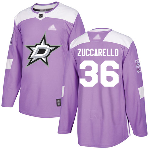 Stars #36 Mats Zuccarello Purple Authentic Fights Cancer Stitched Hockey Jersey