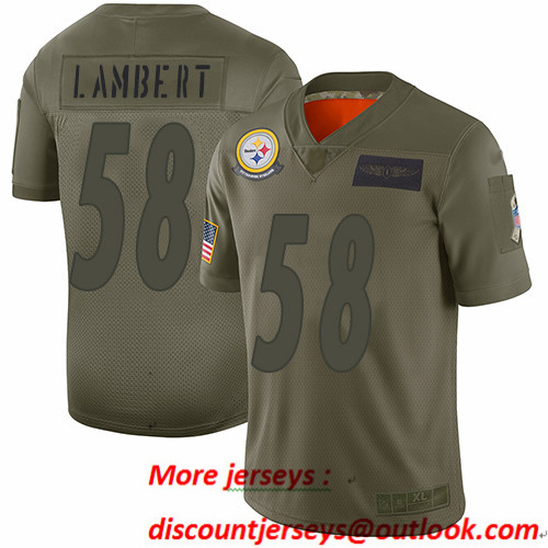 Steelers #58 Jack Lambert Camo Men's Stitched Football Limited 2019 Salute To Service Jersey