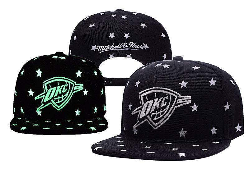 Thunder Team Logo With Star Luminous Mitchell & Ness Adjustable Hat YD