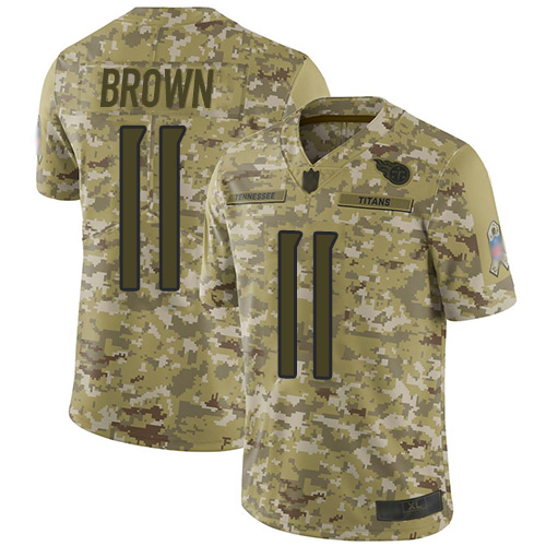 Titans #11 A.J. Brown Camo Men's Stitched Football Limited 2018 Salute To Service Jersey
