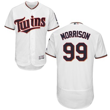 Twins #99 Logan Morrison White Flexbase Authentic Collection Stitched Baseball Jersey