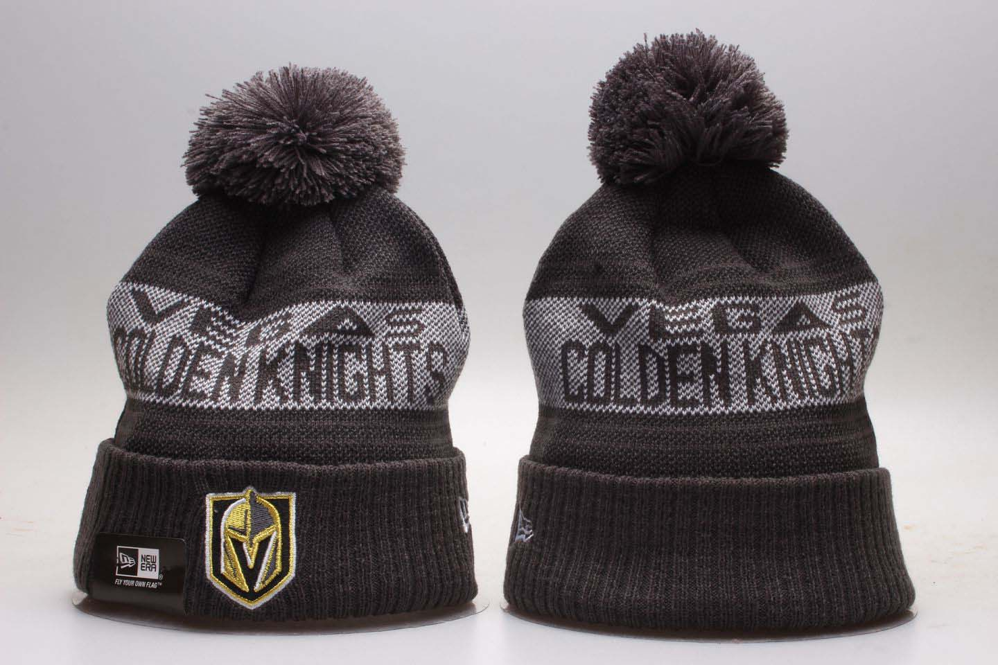 Vegas Golden Knights Team Pride Gray Knit Hat With Pom YP