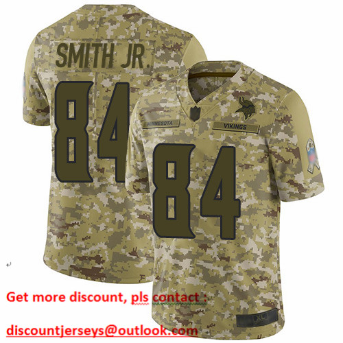 Vikings #84 Irv Smith Jr. Camo Men's Stitched Football Limited 2018 Salute To Service Jersey
