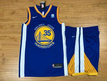 reputable site 114d0 725e2 Warriors 30 Stephen Curry Blue Nike Swingman Jersey(With Shorts)