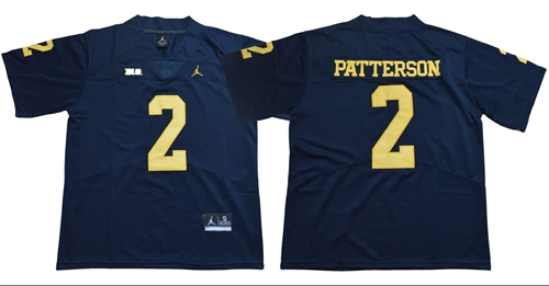 9dcf6dc57100 Wolverines  2 Shea Patterson Navy Blue Jordan Brand Limited Stitched NCAA  Jersey