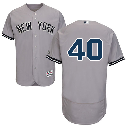be506069e Yankees  40 Luis Severino Grey Flexbase Authentic Collection Stitched MLB  Jersey