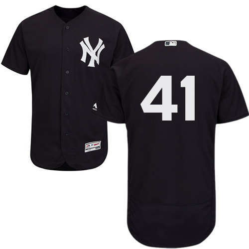 Yankees #41 Miguel Andujar Navy Blue Flexbase Authentic Collection Stitched Baseball Jersey