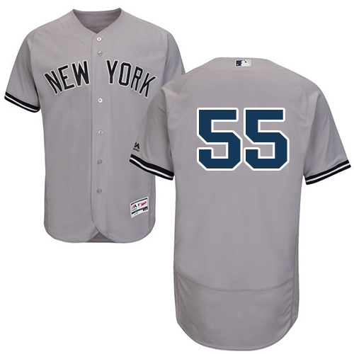 a9d81e28c8a Yankees  55 Sonny Gray Grey Flexbase Authentic Collection Stitched MLB  Jersey