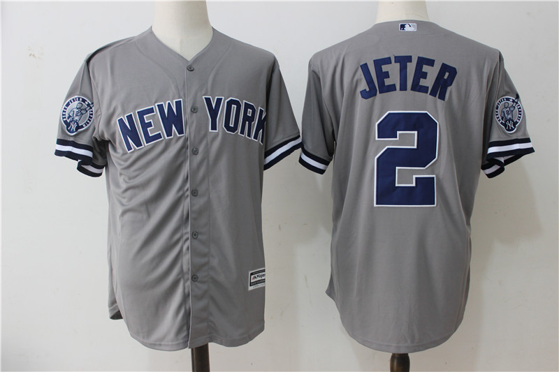 huge selection of 7834f 9a416 Yankees 2 Derek Jeter Gray Retirement Patch Cool Base