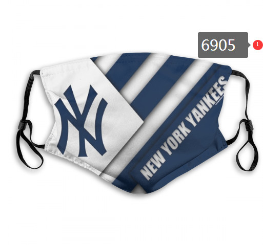 Yankees PM2.5 Mask with Filter Double Protection  (4)