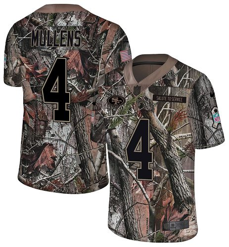243e8a645 Youth Nike 49ers  4 Nick Mullens Camo Youth Stitched NFL Limited Rush  Realtree Jersey