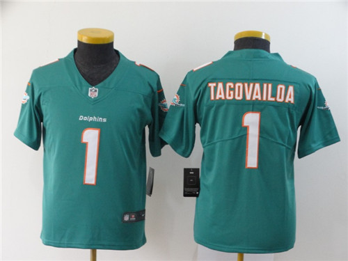 Youth Nike Dolphins 1 Tua Tagovailoa Aqua Youth 2020 NFL Draft First Round Pick Vapor Untouchable Limited Jersey