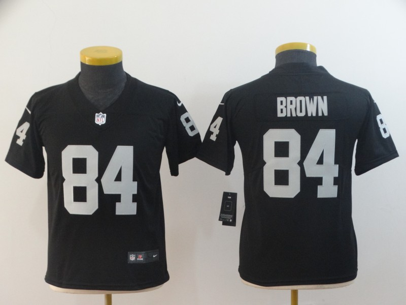 Youth Raiders 84 Antonio Brown Black Youth Vapor Untouchable Limited Jersey