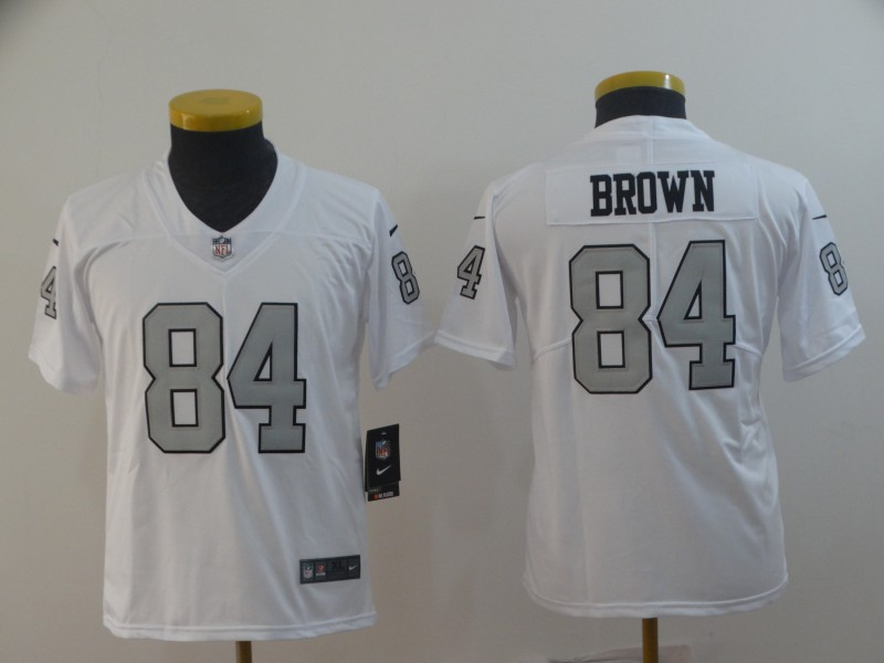 Youth Raiders 84 Antonio Brown White Youth Color Rush Limited Jersey