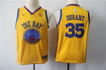 online store c605c 353cd Youth Warriors 35 Kevin Durant Blue Youth Nike Swingman Jersey